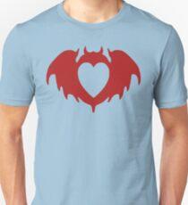Clandestine Bat Heart - Red Unisex T-Shirt