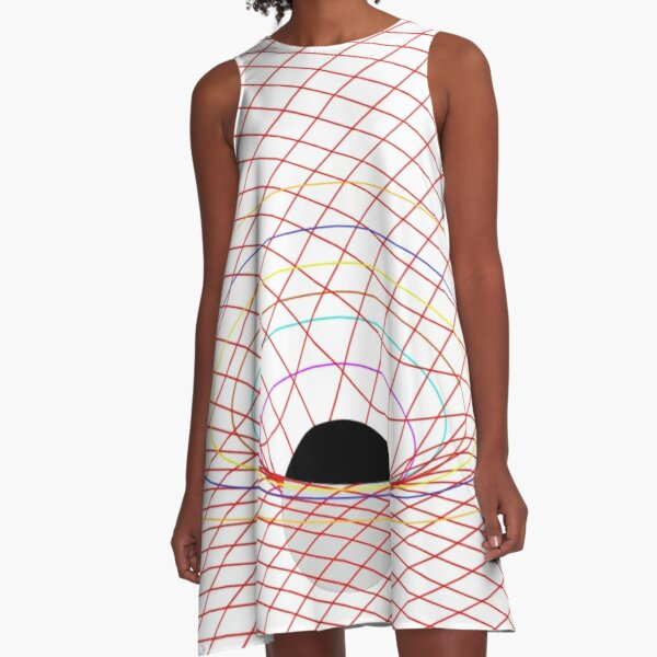 Induced Spacetime Curvature, General Relativity A-Line Dress