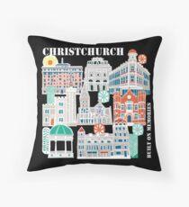 Christchurch - Built on memories Throw Pillow