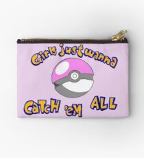 Girl's just wanna catch 'em all Studio Pouch
