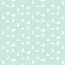 Doves in Flight, Seafoam by ThistleandFox