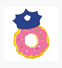 police hat with a doughnut Photographic Print