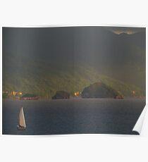 sailing at the bay of banderas - velando en la bahia de banderas Poster