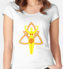Pagan Goddess on Triquetra Knot design Women's Fitted Scoop T-Shirt