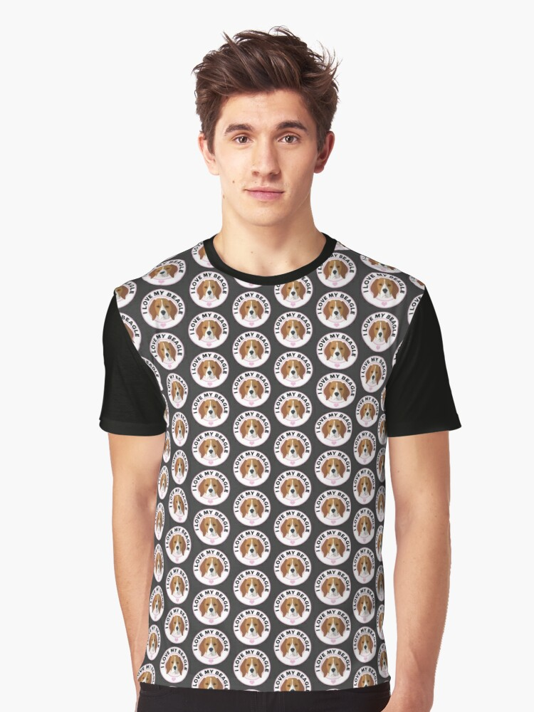Love My Beagle Dog Graphic T-Shirt Front