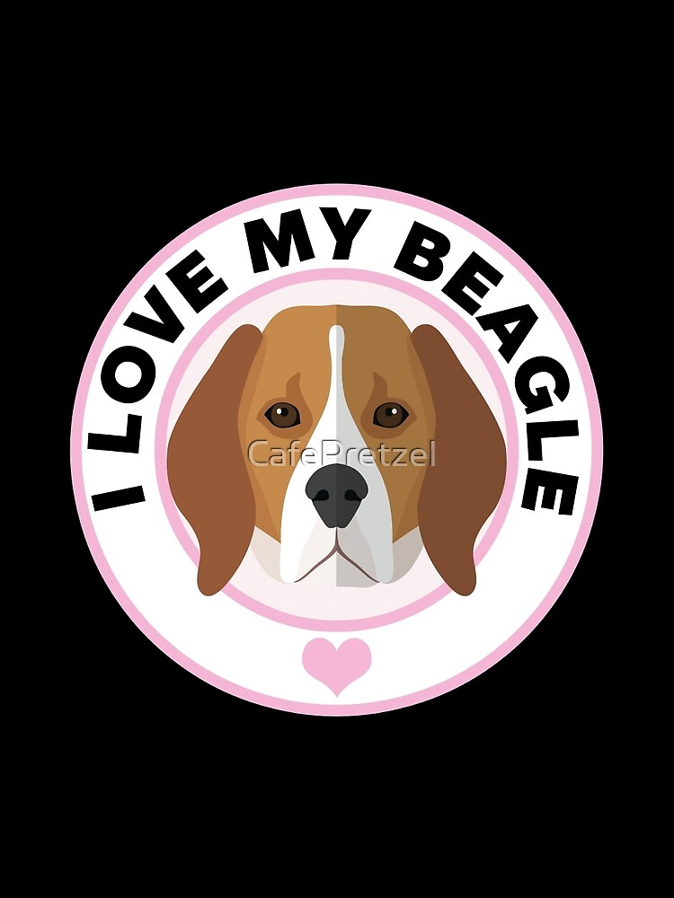 Love My Beagle Dog by CafePretzel