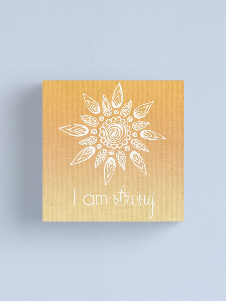 Alternate view of I AM Strong Canvas Print