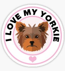 I Love My Yorkshire Terrier Sticker