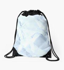 crumpled paper Drawstring Bag