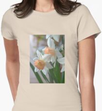 Delicate Daffodils  Womens Fitted T-Shirt
