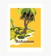 Take a Vacation Bahamas vintage travel poster Art Print
