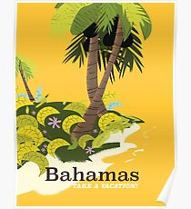 Take a Vacation Bahamas vintage travel poster Poster