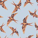 Swallow in Copper on Grey by ThistleandFox