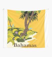 Take a Vacation Bahamas vintage travel poster Wall Tapestry