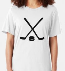 Hockey sticks puck Slim Fit T-Shirt