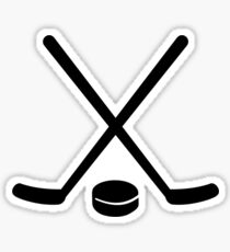 Hockey sticks puck Sticker