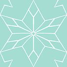 Rustic Star Mirrored Tile in Seafoam by ThistleandFox