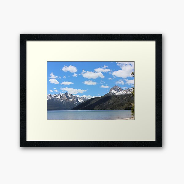 Sawtooth mtns 2- near Stanley ID Framed Art Print