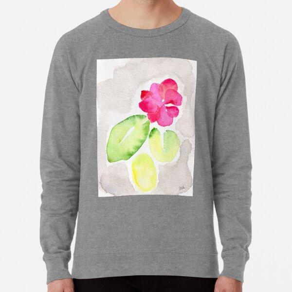 Pink Flower Lightweight Sweatshirt
