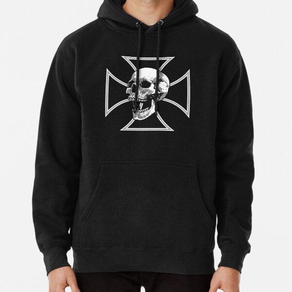 Iron Cross Screaming Skull Pullover Hoodie