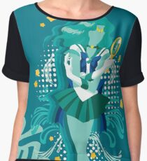 Soldier of the Sea & Embrace Women's Chiffon Top