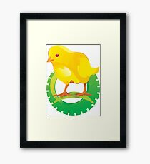 Cute Yellow Bird Framed Print