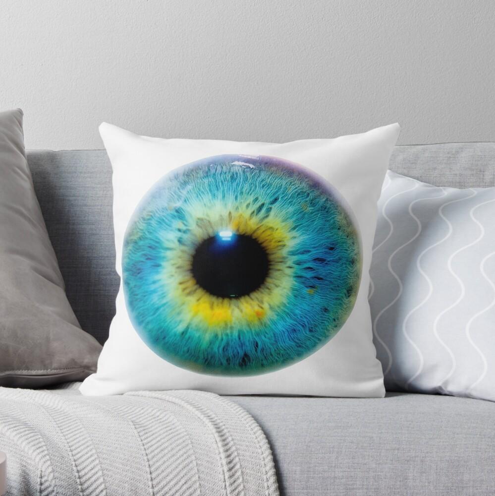 Planet Eye Throw Pillow