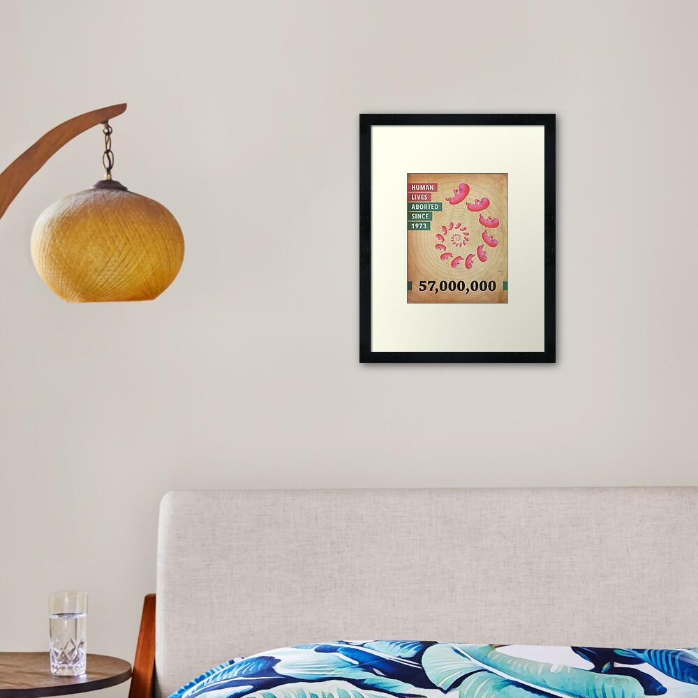 Fifty Seven Million Abortions Framed Art Print