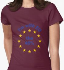 I'm With EU - Represent the 48% Womens Fitted T-Shirt
