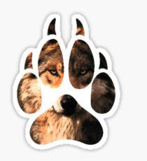 Wolf Footprint Sticker
