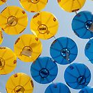 Blue and Yellow Lanterns at Buddha's birthday by Mike Ashley