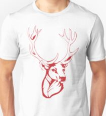 Deer Painting Drawing T-Shirt