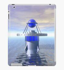 Blue Sci Fi Structure iPad Case/Skin