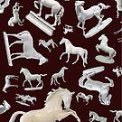 Porcelain Horses on Burgundy 2016 by lightsight