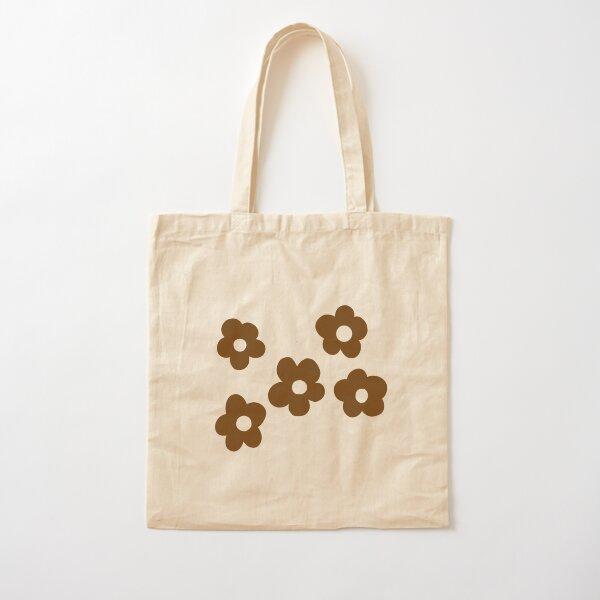 y2k brown flower tote bag Cotton Tote Bag