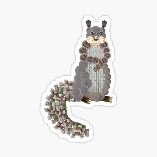 Busy Body Squirrel Sticker