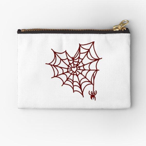 Heart spider web Zipper Pouch