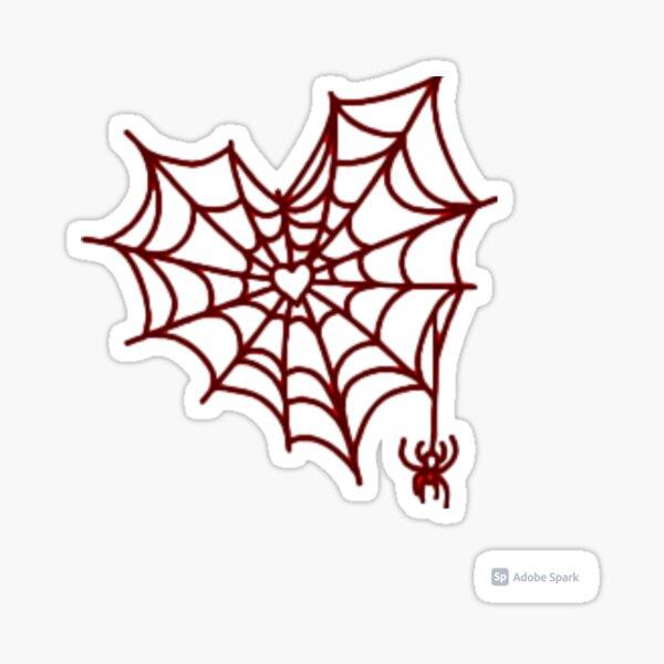 Heart spider web Sticker