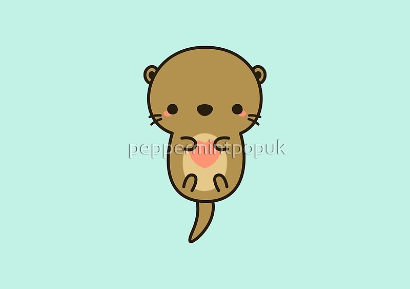 quotcute otterquot by peppermintpopuk redbubble