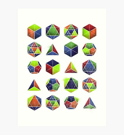 Sacred shapes and colors pop geometry  Art Print