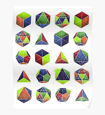 Sacred shapes and colors pop geometry  Poster