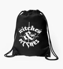 WITCHES & BITCHES Drawstring Bag
