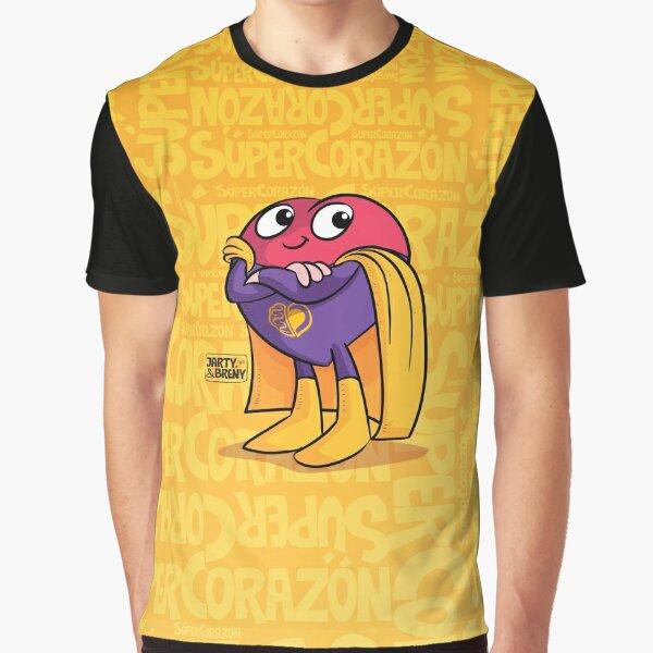Super Héroe Súper Corazón Camiseta gráfica