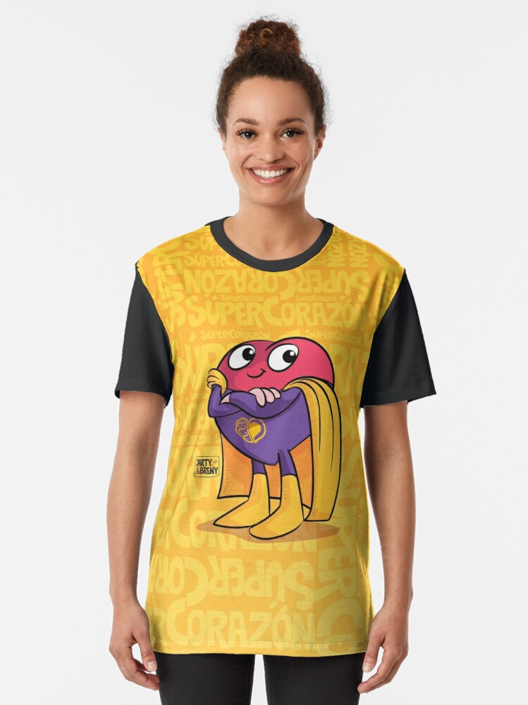 Vista alternativa de Camiseta gráfica Super Héroe Súper Corazón