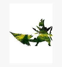 Mega Sceptile used Leaf Storm Photographic Print