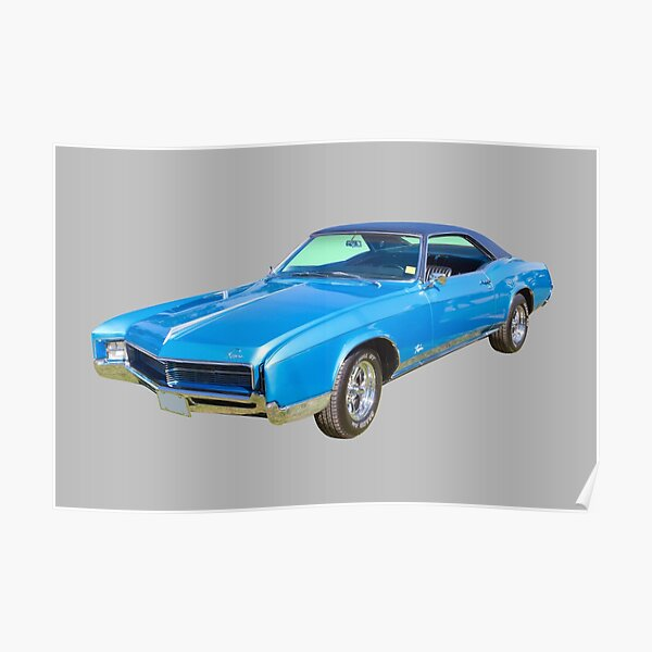 Blue 1967 Buick Riviera Muscle Car Poster