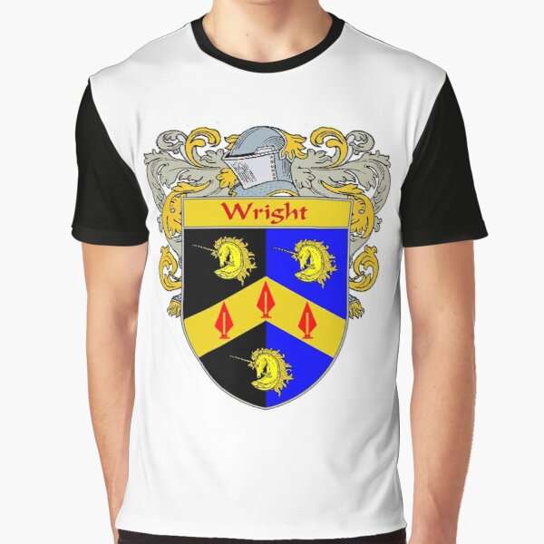 Wright Coat of Arms / Wright Family Crest Graphic T-Shirt