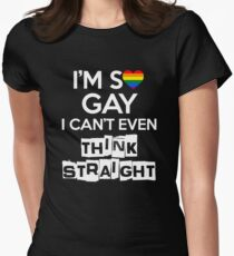 I'm so gay Women's Fitted T-Shirt