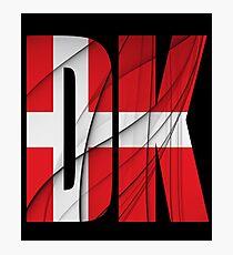 DK - Danmark Flag Photographic Print