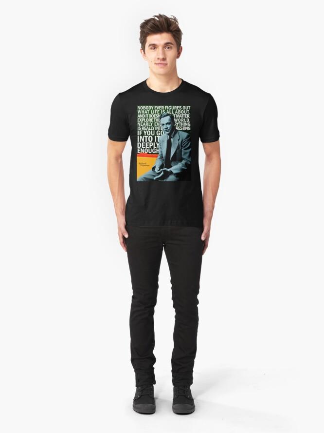 Alternate view of Richard Feynman Slim Fit T-Shirt